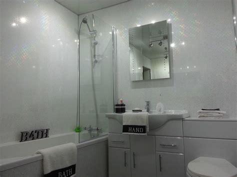 bathroom wall cladding materials 12 white sparkle cladding panels bathroom wall gloss