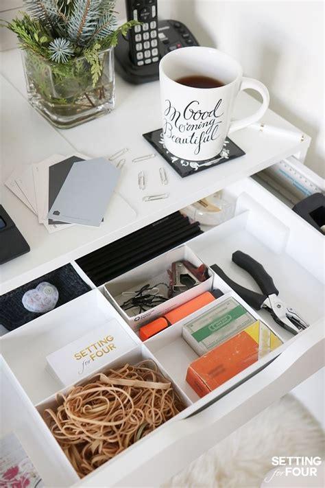 best 25 desk organization tips ideas on