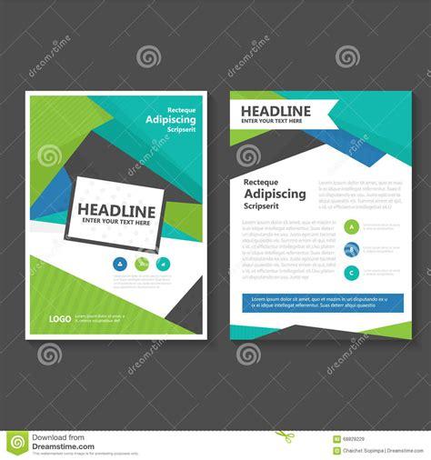 Blue And Green Vector Brochure Flyer Design Template Blue Green Vector Leaflet Brochure Flyer Template Design