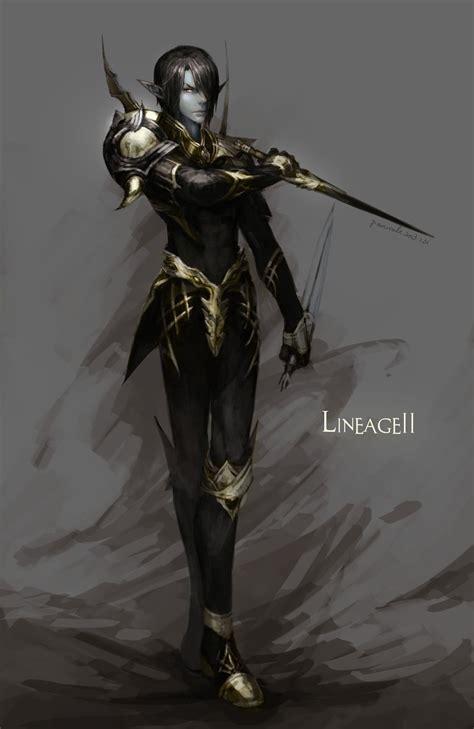 dark elf lineage ii zerochan anime image board