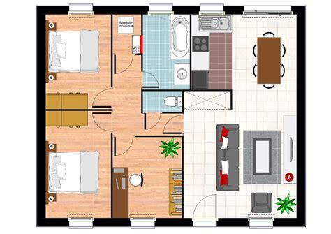 plan maison plain pied 2 chambres construction maison neuve ambre lamotte maisons
