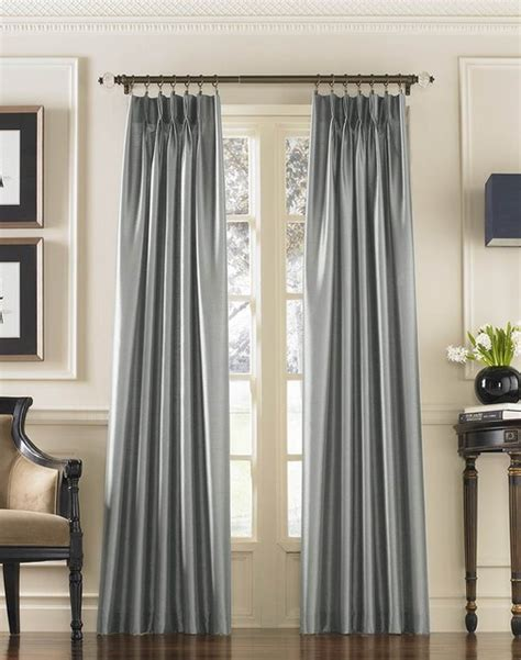 Silk Pinch Pleat Drapes - marquee shimmering faux silk pinch pleat drape