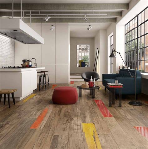 distressed wood flooring wood look tile 17 distressed rustic modern ideas