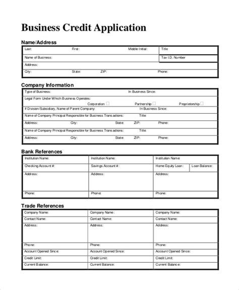 credit application sle
