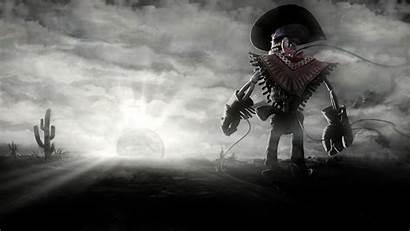 Cowboy Wallpapers Skeleton Skull Dark Desktop Sunset