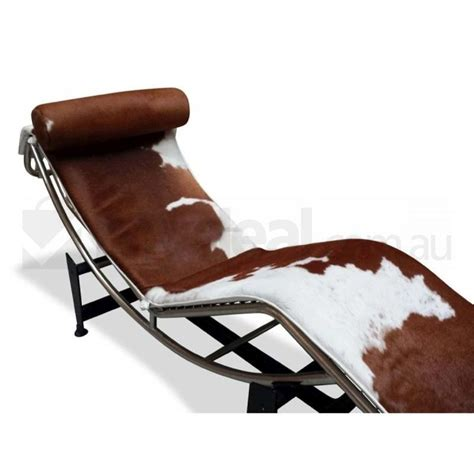 Cowhide Chaise Lounge by Brown Cowhide Chaise Lounge Le Corbusier Replica Buy