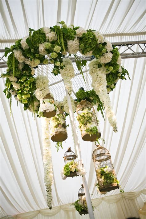 Stunning White And Green Floral Chandelier Vintage