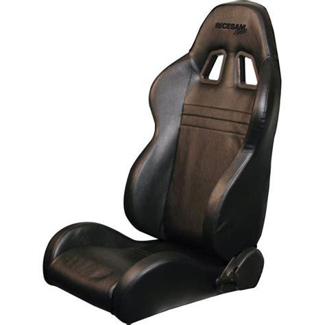 siege bacquet siège baquet côté droit rabattable look cuir cesam sport