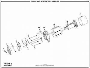 Homelite Bm903500 3500 Watt Generator Parts Diagram For Figure D