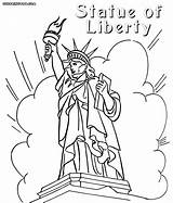 Liberty Statue Coloring Pages Cartoon Drawing Myers Michael Usa Printable Getdrawings sketch template