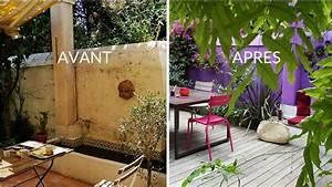 Avant apres oser la couleur en exterieur for Salle de bain design avec décoration noel extérieur jardin