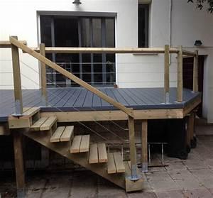 faire une terrasse en bois sur pilotis mzaolcom With terrasse bois sur pilotis