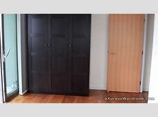 IKEA Pax BERGSBO Black Brown Door Wardrobe Design YouTube