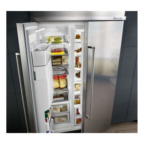 Kitchenaid Refrigerator Built In by Kbsd608ess Kitchenaid 48 Quot 29 5 Cu Ft Built In Side By