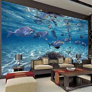 Undersea World Custom Large Size Photo Wallpaper 3D Mural ...