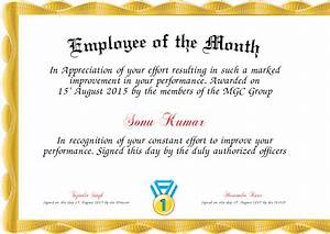 search results for free employee month certificate With employee of the month certificate template with picture