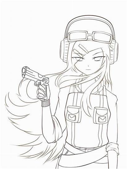 Coloring Anime Drawings Drawing Vampire Easy Cartoon