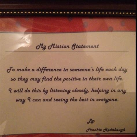 personal mission statement quotes pinterest money