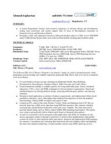 sql dba experience resume resume sql server developer