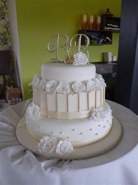 My First Wedding Cake White And Ivory 3 Tier Wedding Cake