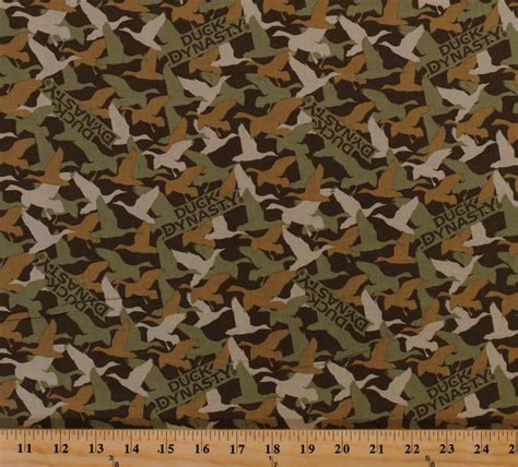 Camouflage Upholstery Fabric by Cotton Duck Dynasty 174 Ducks Camouflage Camo Birds Cotton