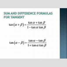 642 Sum And Difference Formulas