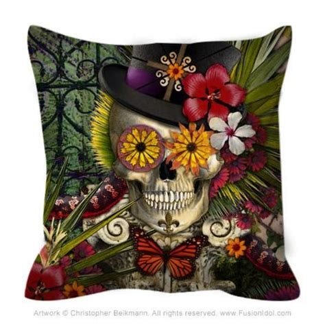 Baron Bloom Throw Pillow New Orleans Inspired Floral
