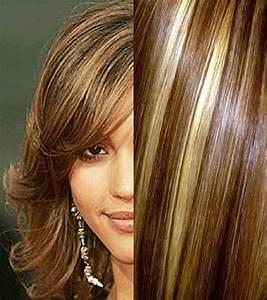 Meches Blondes Sur Chatain : couleur de cheveux avec meche blonde atelier de stefani ~ Melissatoandfro.com Idées de Décoration
