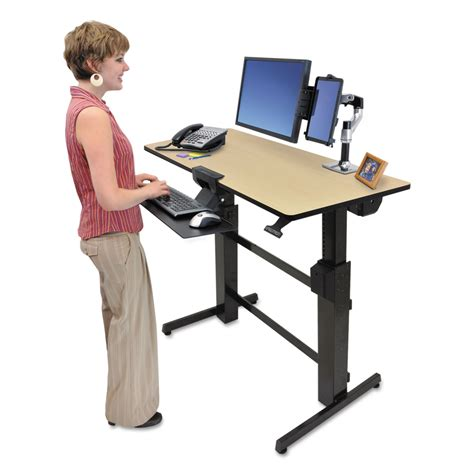 sit or stand desk workfit d sit stand workstation by ergotron erg24271928