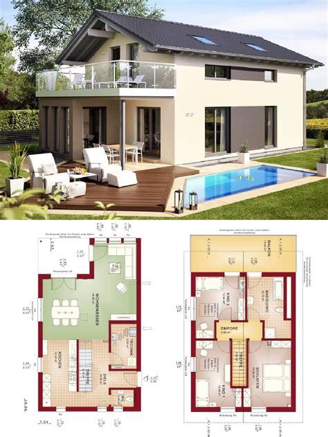Moderne Häuser Balkon by Einfamilienhaus Modern Mit Satteldach Architektur