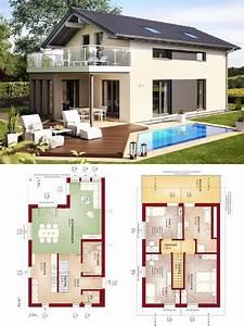 Haus Bauen Ideen Grundriss : einfamilienhaus modern mit satteldach architektur ~ Orissabook.com Haus und Dekorationen
