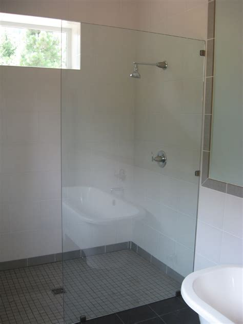 glass frameless glass panels shower doors  portland