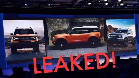 Ford Scout 2020 by New 2020 Ford Bronco Leaked Everything You Need To