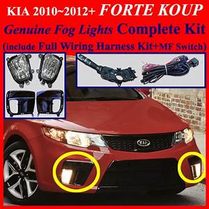 Fog Light Lamp Complete Kit Wiring Harness For 2012  Kia Forte Koup Mf Switch