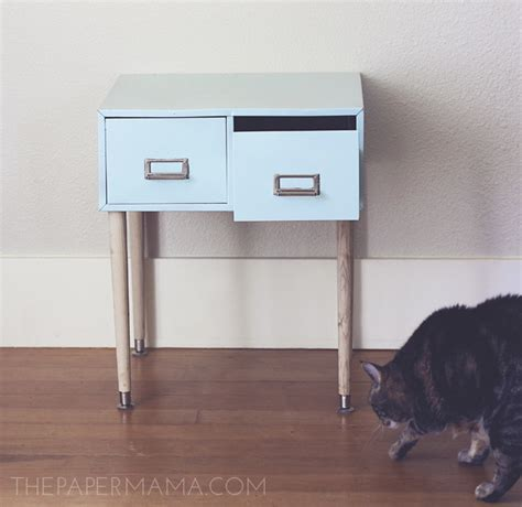 side table file cabinet filing cabinet side table made from a repurposed file