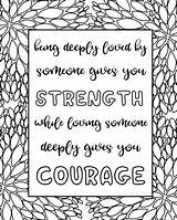 Coloring Pages Quotes Printable Sheets Quote Adults Titus Sarah Courage Sarahtitus Inspirational Zen Adult Getdrawings Printables Pantone Tpx Word Hard sketch template