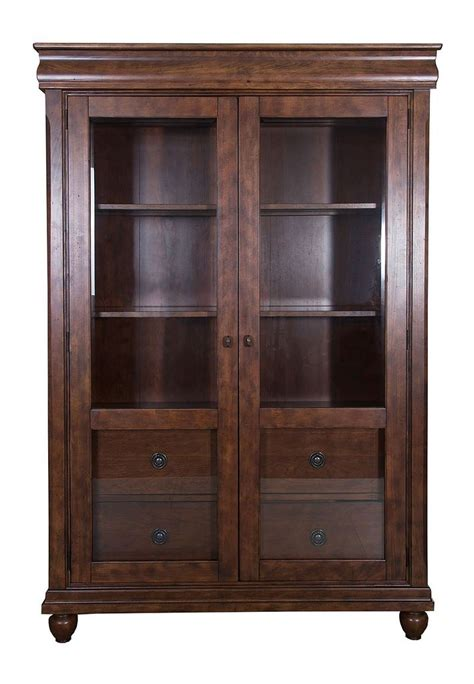 rustic traditions display cabinet  liberty furniture