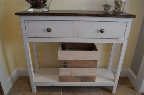 Entryway Table by White Entryway Table Diy Projects