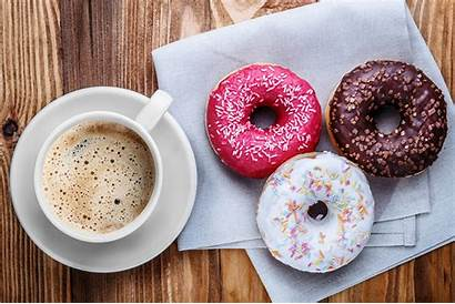 Coffee Donuts Doughnut Cup Background Wallpapers 1280