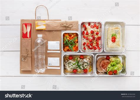 healthy snack delivery healthy food delivery daily meals snacks stock photo