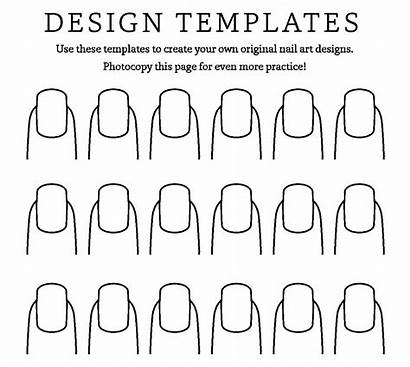 Nail Coloring Pages Designs Fingernail Practice Sheet