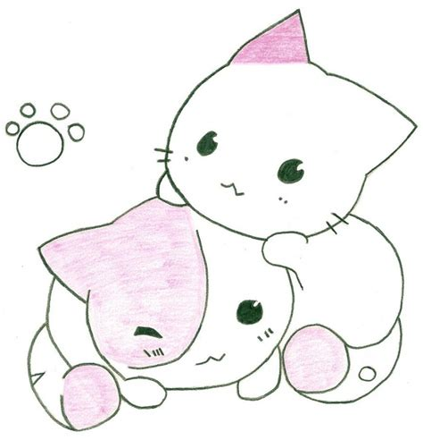 anime couple and cat anime cat drawing at getdrawings com free for personal