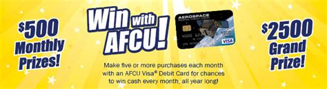 Below are just a few of the. Aerospace Federal Credit Union - Win with AFCU
