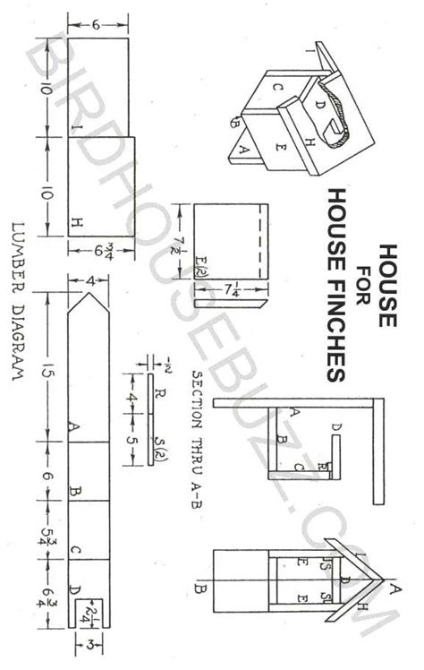 finch birdhouse plans  woodworking
