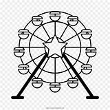Ferris Wheel Drawing Eye London Clip Svg Coloring Silhouette Clipart Pages Easy Drawings Transparent Getcolorings Printable 1000 sketch template