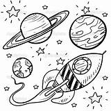 Coloring Planet Planets Space Rocket Stars Drawing Drawings Printable Ship Earth Mars sketch template