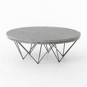Coffee table outstanding circle coffee table remarkable for Metal coffee table with stone top