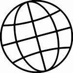 Icon Global Globe Network Mesh International Worldwide