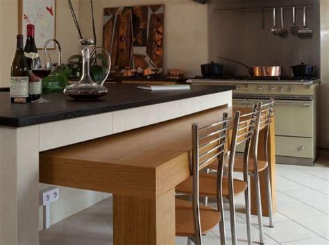 Ilot Central Cuisine Avec Table Escamotable Sm08 Jornalagora