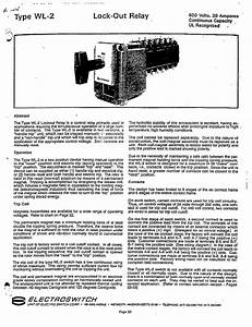 Type Wl-2 Lock-out Relay Manual - Electroswitch